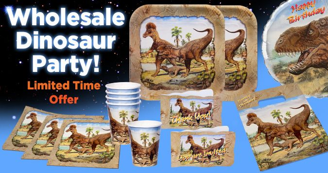 Wholesale Dinosaurs Party Supplies