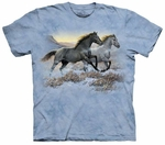 Horses Running Free Adult T-shirt