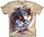 Horses The Journey is The Reward Adult T-shirt