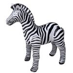Inflatable Zebra Jungle Animal, 56 inch