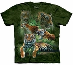 Jungle Tiger Youth & Adult T-shirt