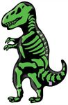 Jumbo T-rex Skeleton Dino Dig Balloon Party Decoration 41""