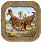 Wholesale Hunting With Dinosaurs T-REX Exclusive Beverage Plates, 96 pcs