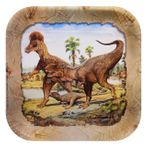 Wholesale Hunting With Dinosaurs T-REX Exclusive Beverage Plates 7 inch, 96 pcs
