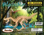 "Large Velociraptor Woodcraft Skeleton Bones Puzzle Kit, 19"",  6 Sets"