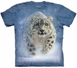 Leopard Snow Ghost Adult T-shirt