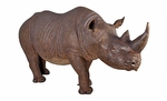 Life-Sized Rhinoceros Outdoor Statue