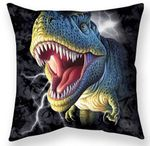 Lightning Rex Throw Pillow