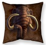 Mammoth Head Throw Pillow
