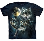 Moon Wolves Collage Youth & Adult T-shirt