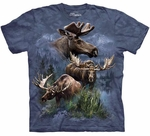 Moose Collage Adult T-shirt