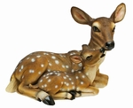 Doe and Fawn Sculpture
