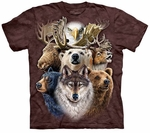 Northern Wildlife Collage Adult T-shirt