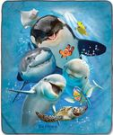 Ocean Selfie Fleece Blanket