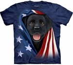 Patriotic Black Lab Pup Youth & Adult T-shirt