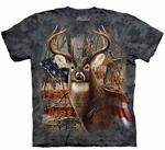 Patriotic Buck Adult T-shirt