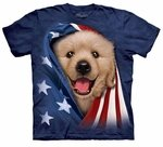 Patriotic Golden Pup Youth & Adult T-shirt