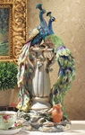 Peacocks in Paradise Statue 19 inch