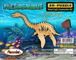 "3D Large Plesiosaurus Woodcraft Bones Puzzle Dinosaur Skeleton Kit, 18"", 6 Sets"