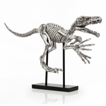 Raptor Skeleton Fossil Sculpture, 31""