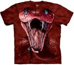 Red Mamba Face Adult T-shirt
