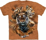 Resting Tiger Collage Youth & Adult T-shirt