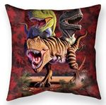 Rex Collage Throw Pillow