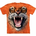 Roaring Tiger Face Youth & Adult T-shirt