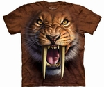 Prehistoric Saber Tooth Cat Tiger T-shirt