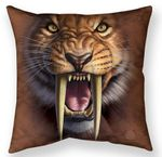 Sabertooth Tiger Throw Pillow