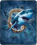 Shark Attack Fleece Blanket
