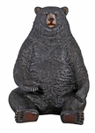 Black Bear Statue with Paw Seat