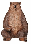 Brown Bear Statue with Paw Seat