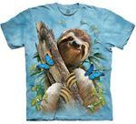 Sloth and Butterflies Youth & Adult T-shirt