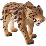 Mojo Smilodon Model Prehistoric Saber Toothed Tiger Toy Figure 4.7 inch