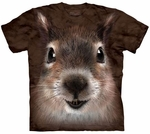 Squirrel Face Adult T-shirt