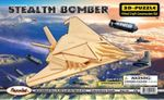 3D Stealth Bomber Woodcraft Puzzle Kit 12 Kits