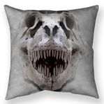 T-rex Big Skull Throw Pillow