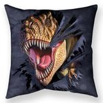 T-rex Tearing Throw Pillow