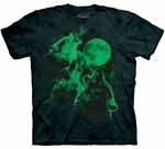 Three Wolf Moon Glow in the Dark Youth & Adult T-shirt