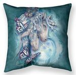 Together We Are Magic Unicorn Throw Pillow