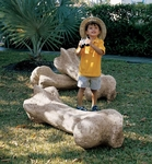 Giant T-rex Bone Sculpture Dinosaur Replica, 43""