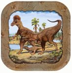 "SPECIAL OFFER Tyrannosaurus rex ""Hunting With Dinosaurs"" T-rex Dinosaur Beverage Plates, 7"", 8 pcs"