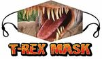 T-REX Dinosaur Face Mask-Adult