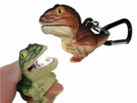 T-Rex Wild Light LED Carabiner Dinosaur Flashlight Toy