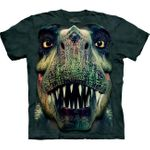 T-rex Face T-shirt, Youth Large