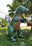Giant Inflatable T-rex Outdoor Summer Sprinkler Dinosaur, 126""