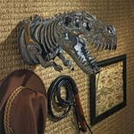 Dinosaur T-Rex Skeleton Wall Sculpture 16""