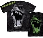 Dinosaur T-shirt  T-rex Face Glowing In Dark, 3 pcs