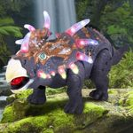Triceratops with Flashing Lights & Roaring Sound 14""